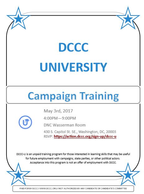 DCCC Training Flier #2