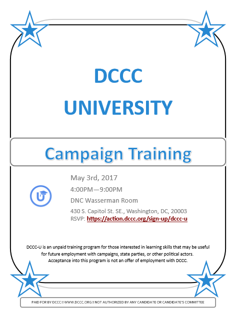 DCCC Training Flier #1